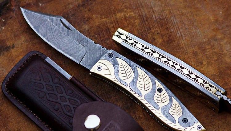 best damascus steel folding knife