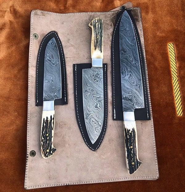 damsacus steel knife set