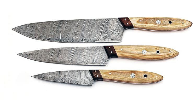 best damascus knife set