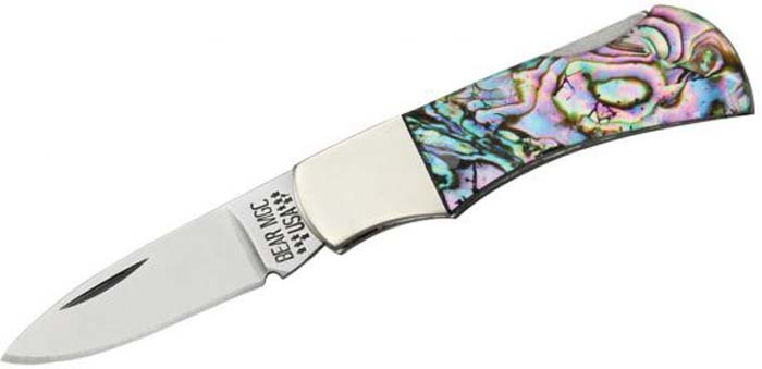 abalone knife handle material