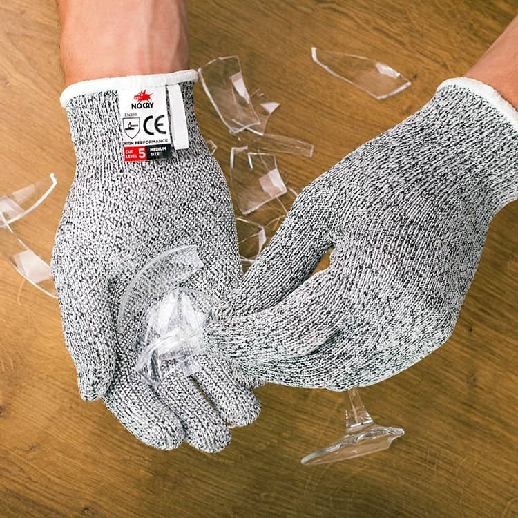 cut-resistant gloves in action