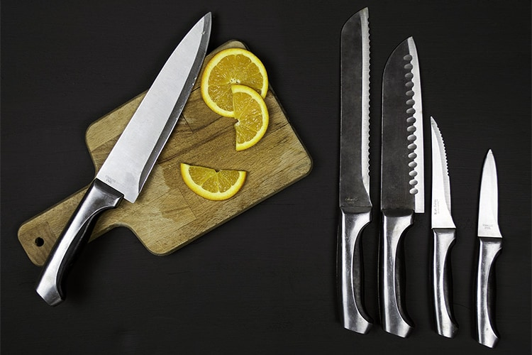 different knife types showing different parts of a knife