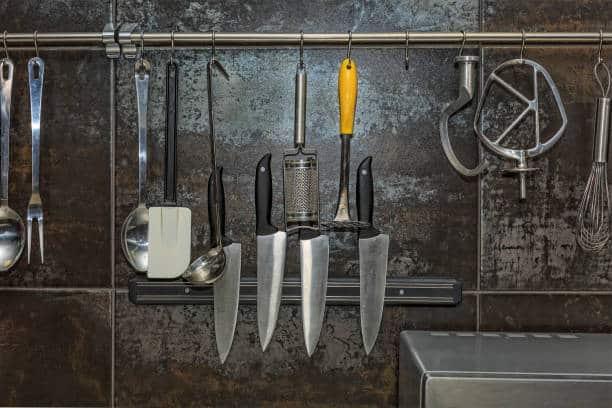 Magnetic knife strip installation methods