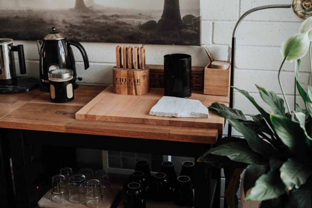 Where to put a knife block in the kitchen?