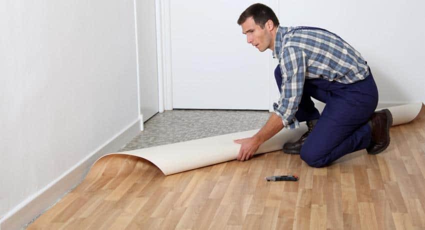 How do you cut Linoleum sheets?
