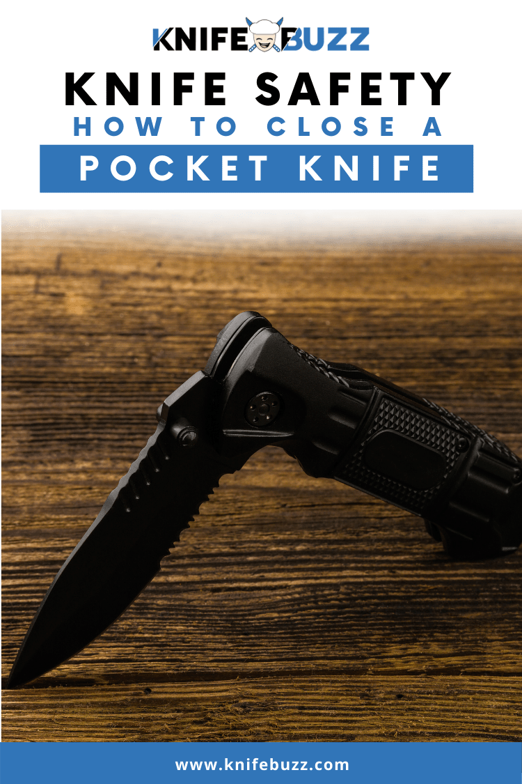 How to close a pocket knife safely