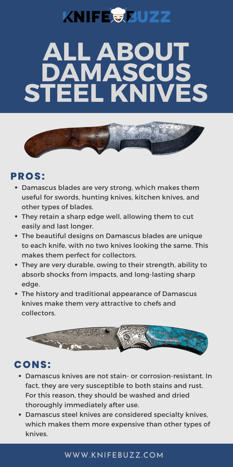 Pros and Cons of Damascus Steel Knives