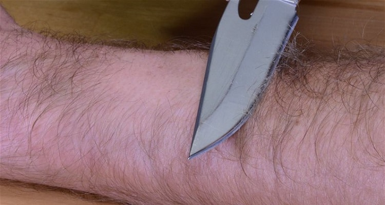 How to Tell If Knives Are Sharp Through Arm Hair Test